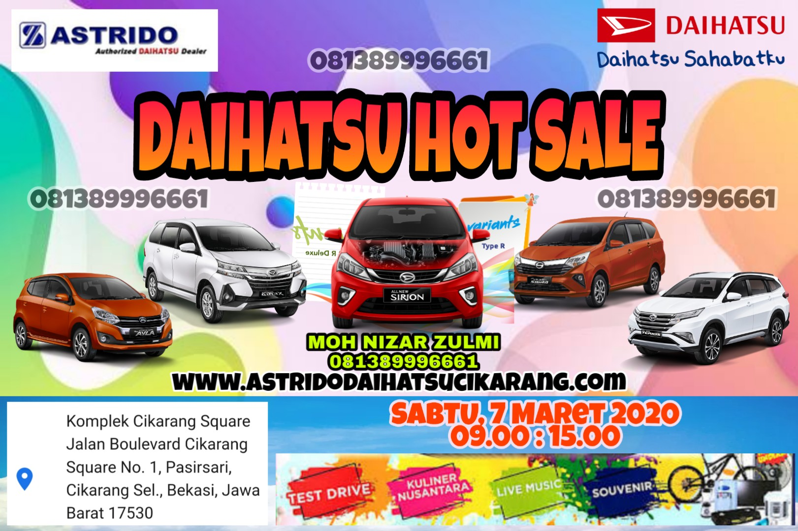 showroom event daihatsu