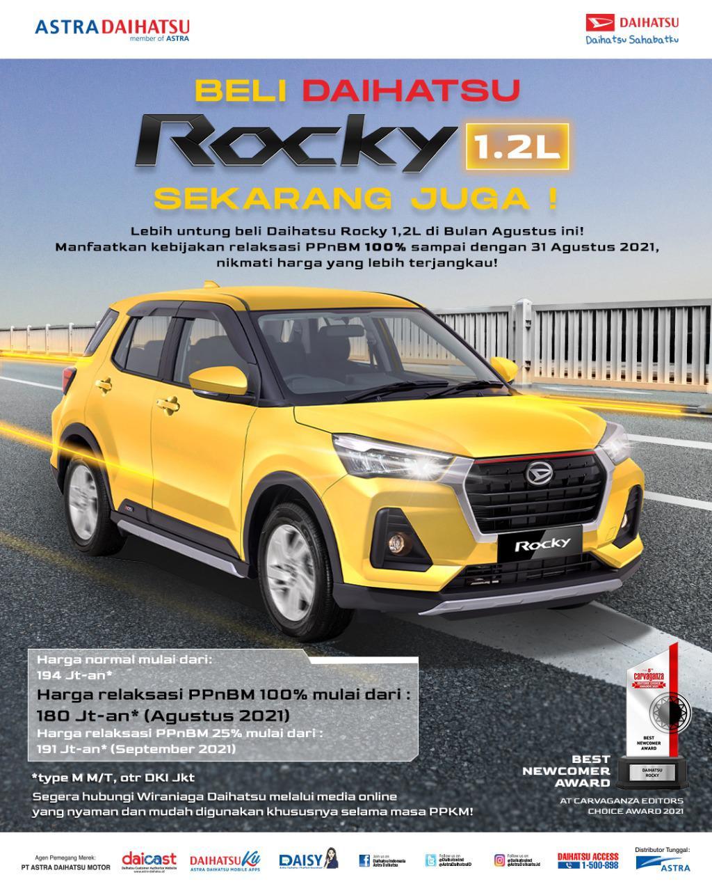 Promo Daihatsu Rocky Agustus 2021